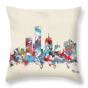 Milwaukee Wisconsin Throw Pillow