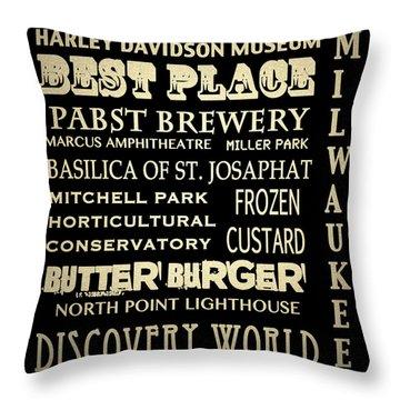 Milwaukee Wisconsin Famous Landmarks Throw Pillow