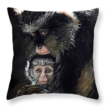 Mimi And Zuri Throw Pillow by Linda Becker