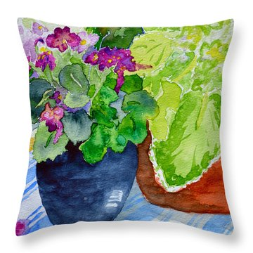 Mimi's Violets Throw Pillow