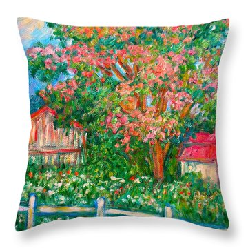 Mimosa View Throw Pillow by Kendall Kessler