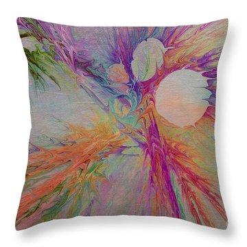Mind Energy Aura Throw Pillow by Deborah Benoit
