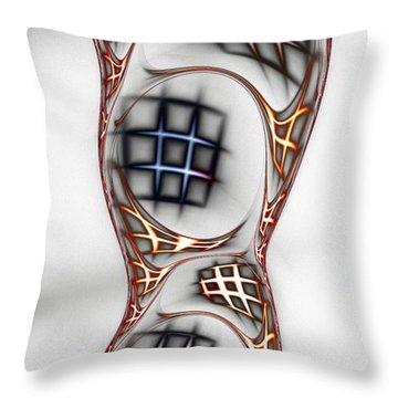Mind Games Throw Pillow by Anastasiya Malakhova