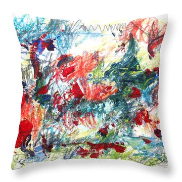 Mind Games Throw Pillow by Esther Newman-Cohen
