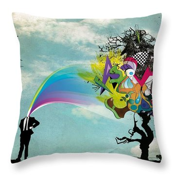 Mind Outburst Throw Pillow by Gianfranco Weiss
