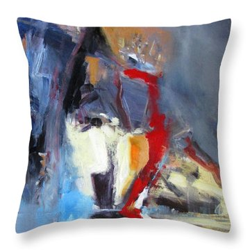 Throw Pillow featuring the painting Mind Over Matter by John Jr Gholson