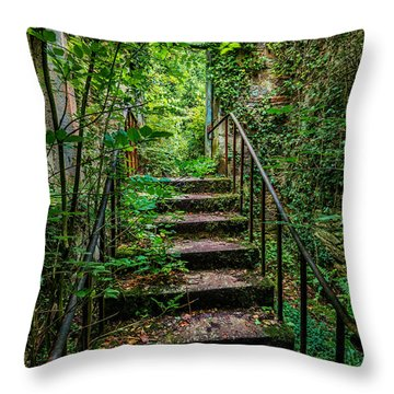 Mind Your Step Throw Pillow