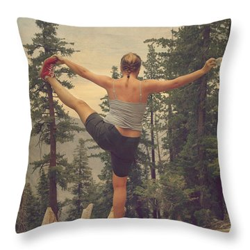 Mindbody Throw Pillow by Laurie Search