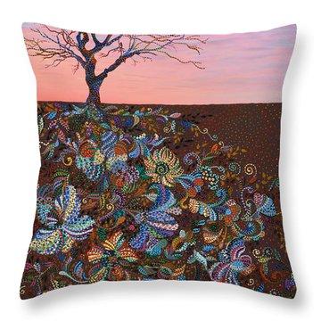 Mindfulness Throw Pillow by Erika Pochybova