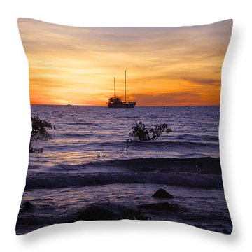 Mindil Beach Sunset Throw Pillow by Venetia Featherstone-Witty