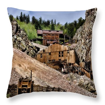 Mine On The Mountain Throw Pillow