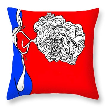 Mineds Eye Throw Pillow