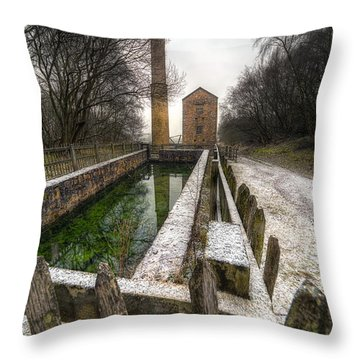 Minera Mines Throw Pillow by Adrian Evans