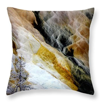 Minerals And Stream Throw Pillow