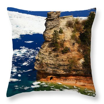 Miner's Castle In Spring Throw Pillow