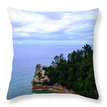 Miner's Castle Throw Pillow