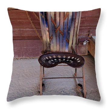 Throw Pillow featuring the photograph Miner's Rocker by Fran Riley
