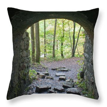Miners View Throw Pillow