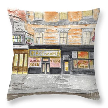 Minetta Tavern  Greenwich Village Throw Pillow