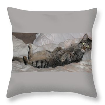 Ming With Slight Attitude Throw Pillow