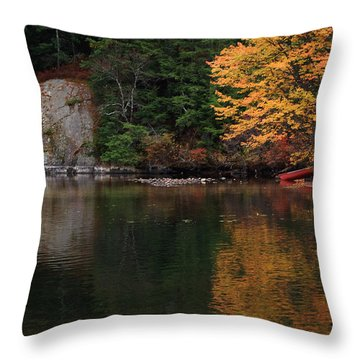 Throw Pillow featuring the photograph Minge Cove by Mim White