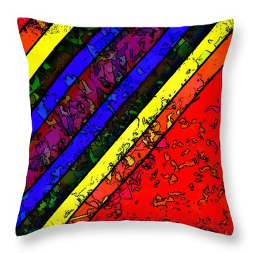 Mingling Stripes Throw Pillow by Bartz Johnson