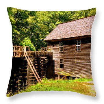 Mingus Mill Throw Pillow by Karen Wiles