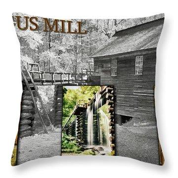 Mingus Mill Montage Throw Pillow