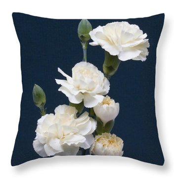 Mini Carnations Throw Pillow