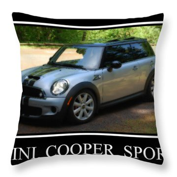 Mini Cooper Sport Throw Pillow