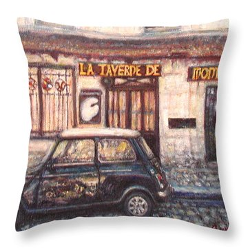 Mini De Montmartre Throw Pillow