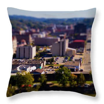 Mini Downtown Parkersburg Throw Pillow by Jonny D