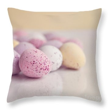 Mini Easter Eggs Throw Pillow by Lyn Randle