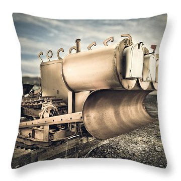 Mini Excavator Mailbox Throw Pillow
