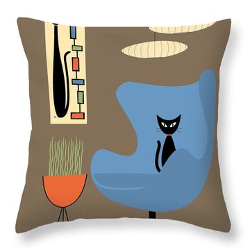 Mini Rectangle Cat Throw Pillow