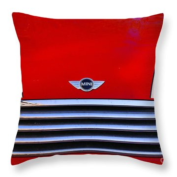 Mini Red Throw Pillow by Aimelle