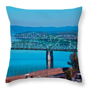 Miniature Bridge Throw Pillow by Jonny D