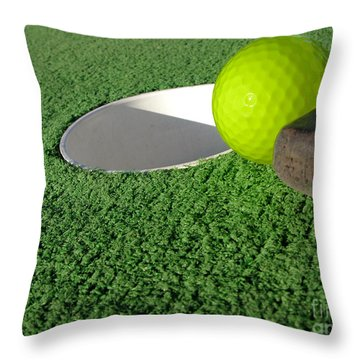 Miniature Golf Throw Pillow by Olivier Le Queinec