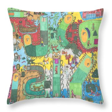 Miniature Golf Throw Pillow
