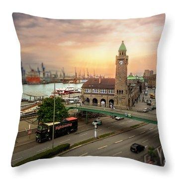 Miniature Hamburg Throw Pillow