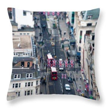 Miniature Oxford Street Throw Pillow by Matt Malloy
