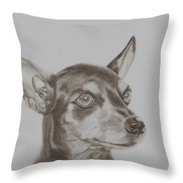 miniature pinscher Tronter Throw Pillow
