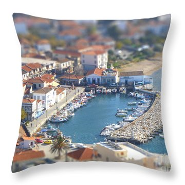 Throw Pillow featuring the photograph Miniature Port by Vicki Spindler