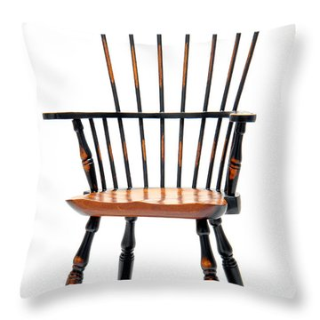 Miniature Windsor Armchair  Throw Pillow by Olivier Le Queinec