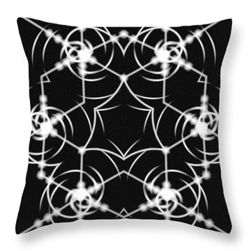 Minimal Life Vortex Throw Pillow