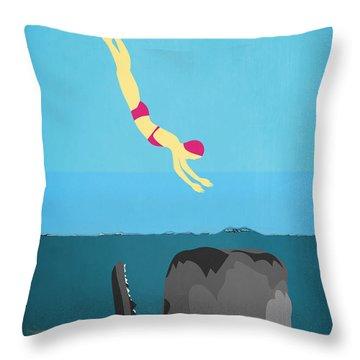 Minimal Sea Life  Throw Pillow by Mark Ashkenazi