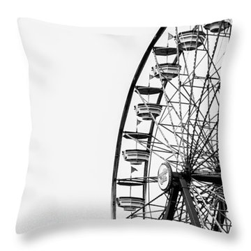 Minimalist Ferris Wheel Throw Pillow