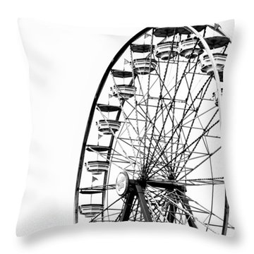 Minimalist Ferris Wheel - Square Throw Pillow