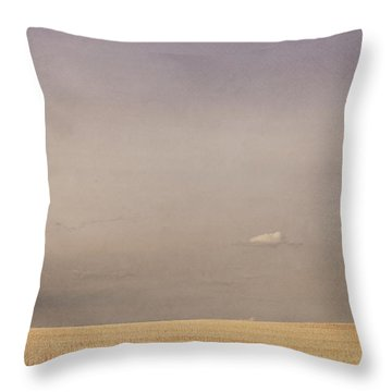 Minimalist Landscape Of A Prairie Grain Throw Pillow by Roberta Murray