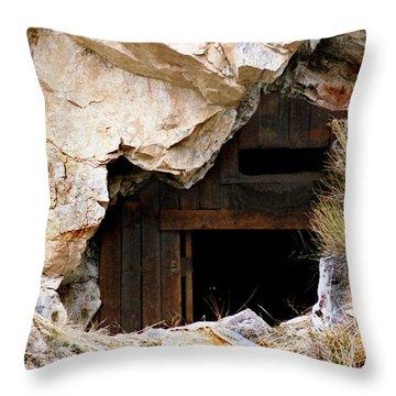 Mining Backbone Throw Pillow